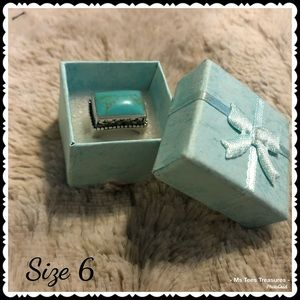 925 Silver and Turquoise Ring Size 6
